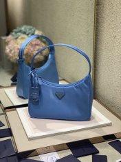 Prada Hobo Re-Edition 2000 Nylon Vintage Bag Blue