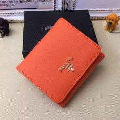 Prada 1M0176 Wallets Saffiano Leather in Orange